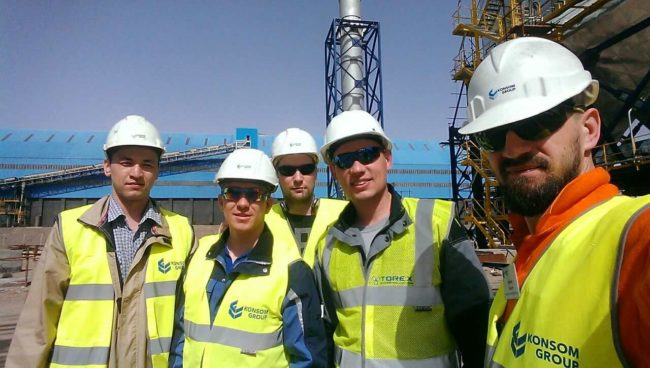 ACS commissioning works at the pelletizing plant Sangan-1
